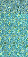 Alpha-and-Omega silk (rayon brocade) (blue/gold)
