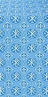 Alpha-and-Omega silk (rayon brocade) (blue/silver)