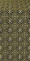 Alpha-and-Omega silk (rayon brocade) (black/gold)