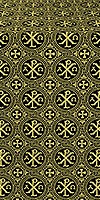 Alpha-and-Omega metallic brocade (black/gold)