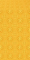 Alpha-and-Omega silk (rayon brocade) (yellow/gold)