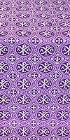Alpha-and-Omega silk (rayon brocade) (violet/silver)