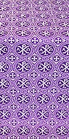 Alpha-and-Omega metallic brocade (violet/silver)