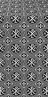 Alpha-and-Omega silk (rayon brocade) (black/silver)