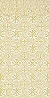 Alpha-and-Omega silk (rayon brocade) (white/gold)