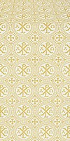 Alpha-and-Omega metallic brocade (white/gold)