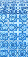Ryazan metallic brocade (blue/silver)