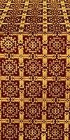 Ryazan silk (rayon brocade) (claret/gold)
