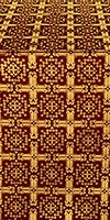 Ryazan metallic brocade (claret/gold)