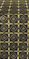 Ryazan silk (rayon brocade) (black/gold)