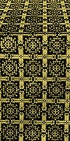 Ryazan metallic brocade (black/gold)