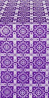 Ryazan silk (rayon brocade) (violet/silver)