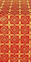 Ryazan silk (rayon brocade) (red/gold)