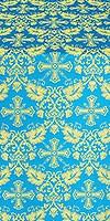 Koursk silk (rayon brocade) (blue/gold)