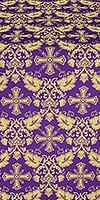 Koursk silk (rayon brocade) (violet/gold)