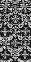 Koursk metallic brocade (black/silver)