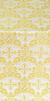 Koursk metallic brocade (white/gold)