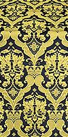 Bryansk silk (rayon brocade) (black/gold)