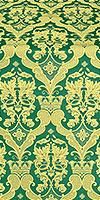 Bryansk silk (rayon brocade) (green/gold)