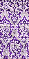 Bryansk metallic brocade (violet/silver)