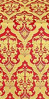 Bryansk silk (rayon brocade) (red/gold)