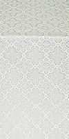 Kazan' metallic brocade (white/silver)