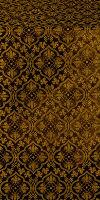Arkhangelsk silk (rayon brocade) (black/gold)