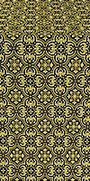 Vasiliya silk (rayon brocade) (black/gold)