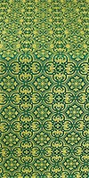 Vasiliya silk (rayon brocade) (green/gold)