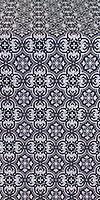 Vasiliya silk (rayon brocade) (black/silver)