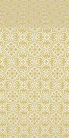 Vasiliya metallic brocade (white/gold)