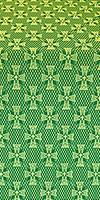 Petrograd metallic brocade (green/gold)