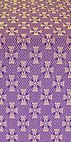 Petrograd metallic brocade (violet/gold)
