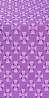 Petrograd metallic brocade (violet/silver)