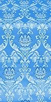 Rose metallic brocade (blue/silver)