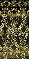 Rose metallic brocade (black/gold)