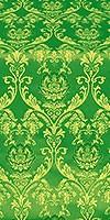 Rose metallic brocade (green/gold)