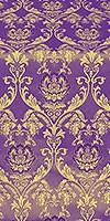 Rose metallic brocade (violet/gold)