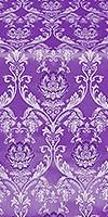 Rose metallic brocade (violet/silver)