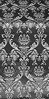 Rose metallic brocade (black/silver)