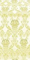 Rose metallic brocade (white/gold)