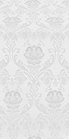 Rose metallic brocade (white/silver)