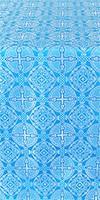 Murom silk (rayon brocade) (blue/silver)