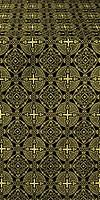 Murom silk (rayon brocade) (black/gold)