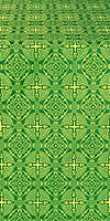Murom silk (rayon brocade) (green/gold)