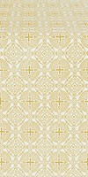 Murom silk (rayon brocade) (white/gold)