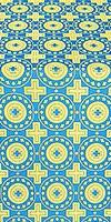 Mira Lycia silk (rayon brocade) (blue/gold)