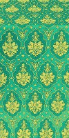 Chernigov silk (rayon brocade) (green/gold)