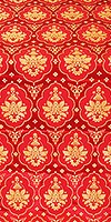 Chernigov silk (rayon brocade) (red/gold)