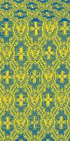Seraphim silk (rayon brocade) (blue/gold)